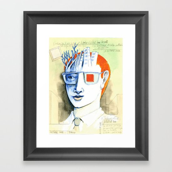 Cube culture Framed Art Print
