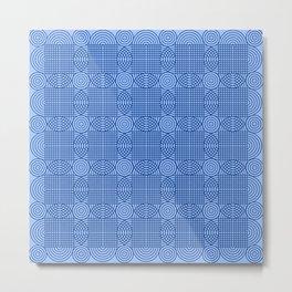 Op Art 18 - Peacock Blue Metal Print