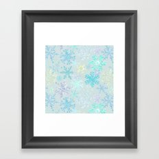 icy snowflakes Framed Art Print