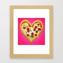 Pizza Heart Framed Art Print