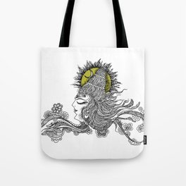 Shiva Moon Tote Bag