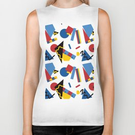 Postmodern Primary Color Party Decorations Biker Tank
