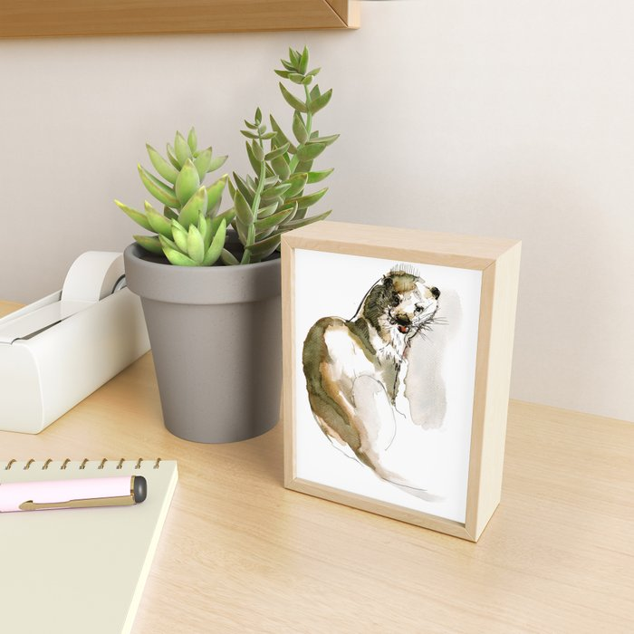 Totem Eurasian River Otter Framed Mini Art Print