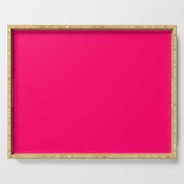 Bright Fluorescent Pink Neon Serving Tray