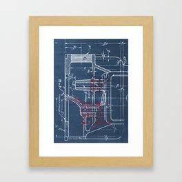 1925 Mechanical Blueprints Framed Art Print