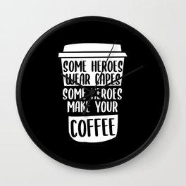 Coffee Hero Wall Clock