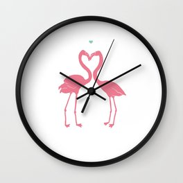 I'm Flamingoing Crazy without you Wall Clock