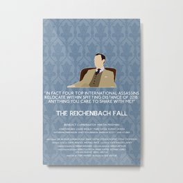 The Reichenbach Fall - Mycroft Holmes Metal Print