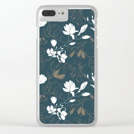 Magnolia flowers Clear iPhone Case