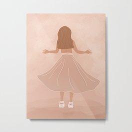 Air Max Goddess Metal Print