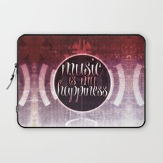 music is my happiness | music theme Laptop Sleeve