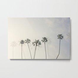 Double Exposure Palms 1 Metal Print