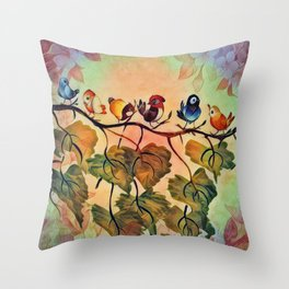 Spring Peeps Throw Pillow