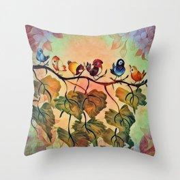 Spring Peeps Throw Pillow