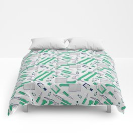 Murder pattern Green Comforters
