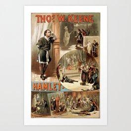 Vintage Hamlet Theatre Poster Art Print