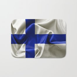 Finland Flag Bath Mat