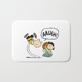 Charlie Brown Foot Ball Bath Mat