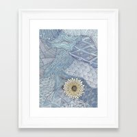 daisy Framed Art Prints featuring Daisy by sinonelineman