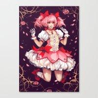 madoka magica Canvas Prints featuring ♥ Madoka ♥ by ShinoX