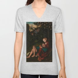 "Lucas Cranach the Elder ""Samson and Delilah"" Unisex V-Neck"
