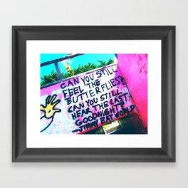Feel the butterflies... Framed Art Print