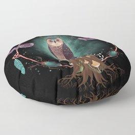 Enchanted Woodland Secret Keeper And Dream Catcher Floor Pillow