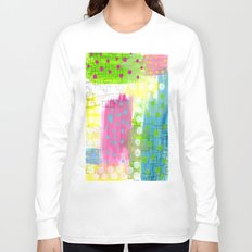 Polk-A-Dotted Background Long Sleeve T-shirt
