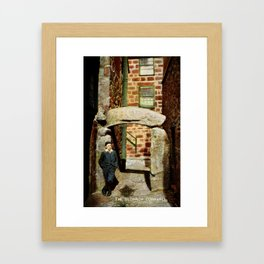 1900 St. Ives Cornwall, The Old Arch, local boy Framed Art Print