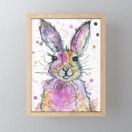 {Henry} the Bunny Portrait Framed Mini Art Print