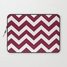 Claret - purple color - Zigzag Chevron Pattern Laptop Sleeve