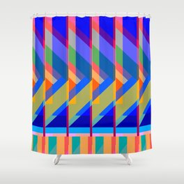 Action Square Shower Curtain