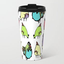 Hens on white Travel Mug
