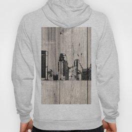 Minneapolis, Minnesota Skyline on Wood Hoody