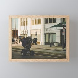 Life on Broad Framed Mini Art Print