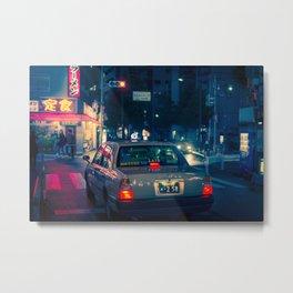 Neo Tokyo Taxi 2049 Metal Print