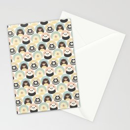 Round animal Stationery Cards