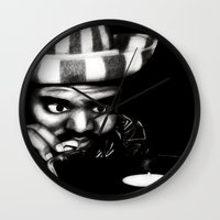 reggae Wall Clocks featuring Reggae DJ by Mr Shins
