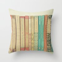 books Throw Pillows featuring Books by Cassia Beck