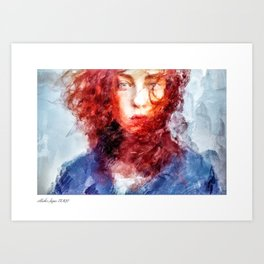 Burning Flame Art Print