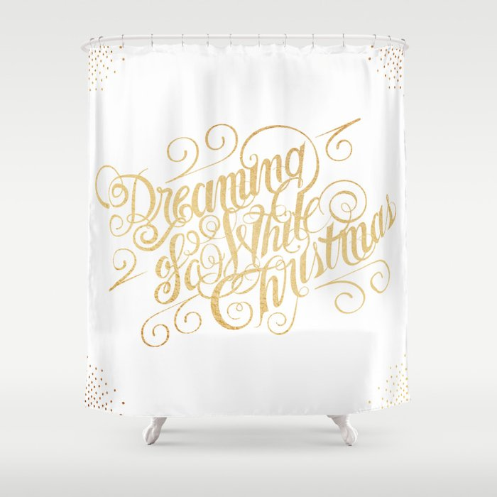 Christmas Shower Curtain.Dreaming Of A White Christmas Shower Curtain By Caitlinworkman