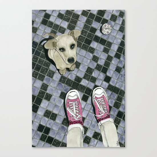 Let's play: Dog Canvas Print