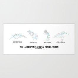 Aspen Collection - Minimalist Trail Art Art Print