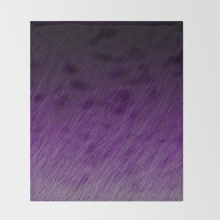 Funky Dark Purple Throw Blanket