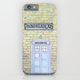 Tardis Hogwarts iPhone Case