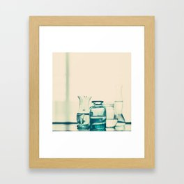 Crystal jars and bottles (Retro and Vintage Still Life Photography) Framed Art Print