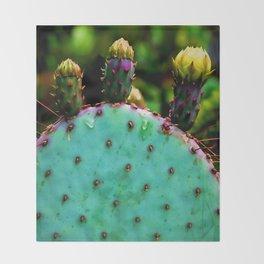 Cactus In The Garden Throw Blanket