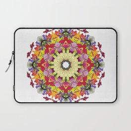 Abundantly colorful orchid mandala 1 Laptop Sleeve