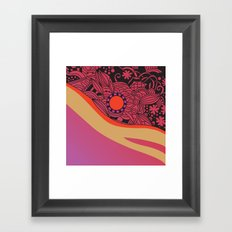 Rose gold square ornament Framed Art Print