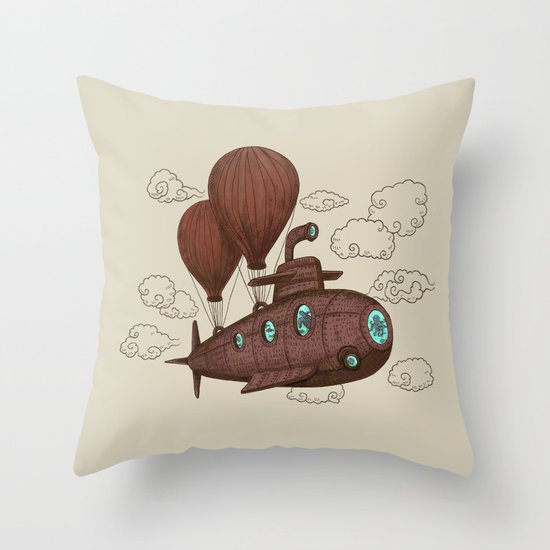 The Fantastic Voyage Throw Pillow